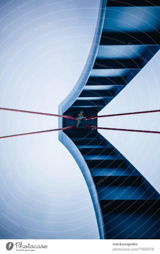 brücken architektur blau Stadt rot Architektur Straße Metall Zufriedenheit elegant Technik & Technologie einzigartig Brücke Seil Bauwerk Stress Stahl