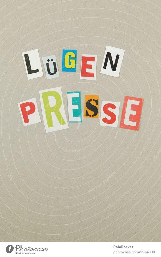 #AS# LÜGEN PRESSE Kunst Kreativität Buchstaben Information Medien Typographie Gesellschaft (Soziologie) Meinung falsch Kunstwerk Printmedien lügen gestalten