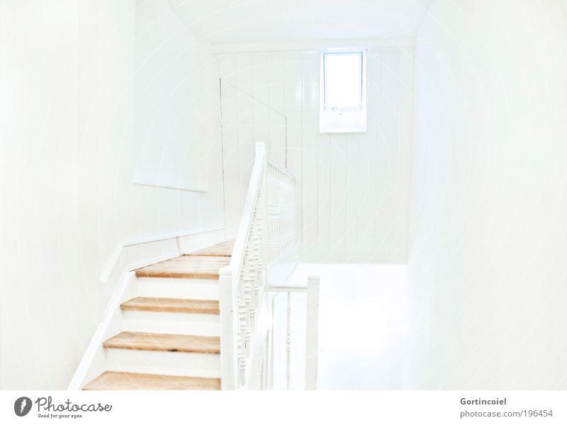 Weiß schön weiß Haus Wand Stil Fenster Mauer Gebäude hell Architektur Wohnung Design elegant Lifestyle Treppe