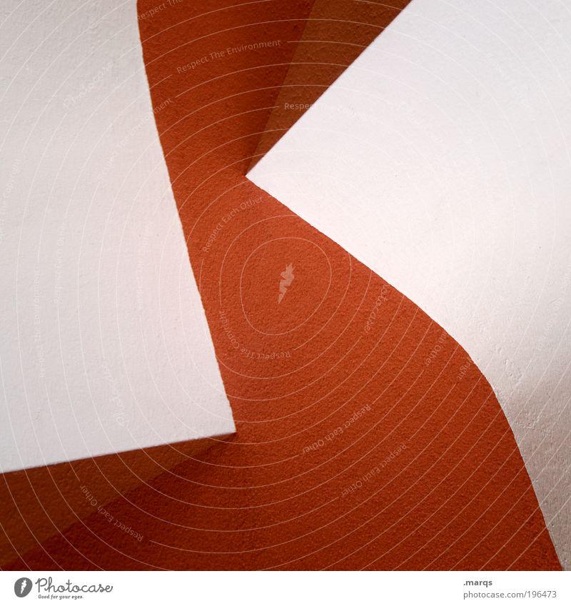 Special K weiß rot Wand Architektur Mauer Stil Innenarchitektur elegant Ordnung Design modern ästhetisch verrückt Perspektive Dekoration & Verzierung Zukunft