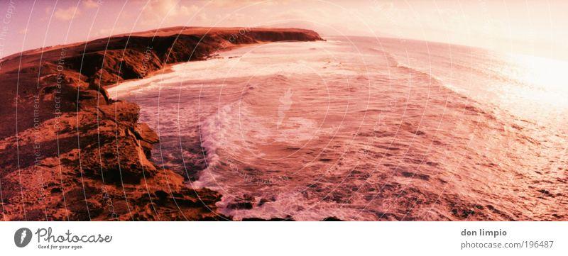 stone age Meer rot Sommer Strand Ferien & Urlaub & Reisen Ferne Landschaft Erde Wellen rosa Umwelt Horizont Ausflug Insel Unendlichkeit