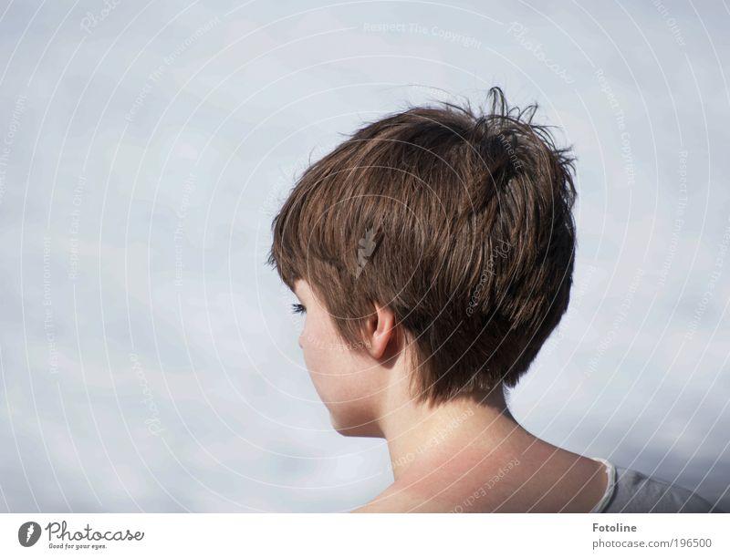 Fränzi II (in Farbe) Mensch Frau Natur Jugendliche schön Sonne Sommer Meer Gesicht Erwachsene Umwelt feminin Wärme Kopf Haare & Frisuren Küste