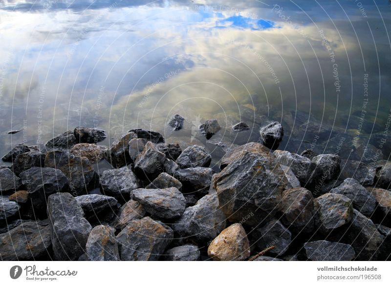 Der Weg in die Wolken Himmel Natur Wasser Umwelt Landschaft See Luft Felsen Teich Licht