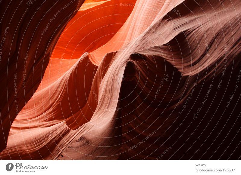Steinwellen Natur ruhig Landschaft Zufriedenheit Umwelt Erde Berge u. Gebirge Gelassenheit Fernweh Schlucht Gefühle Antelope Canyon
