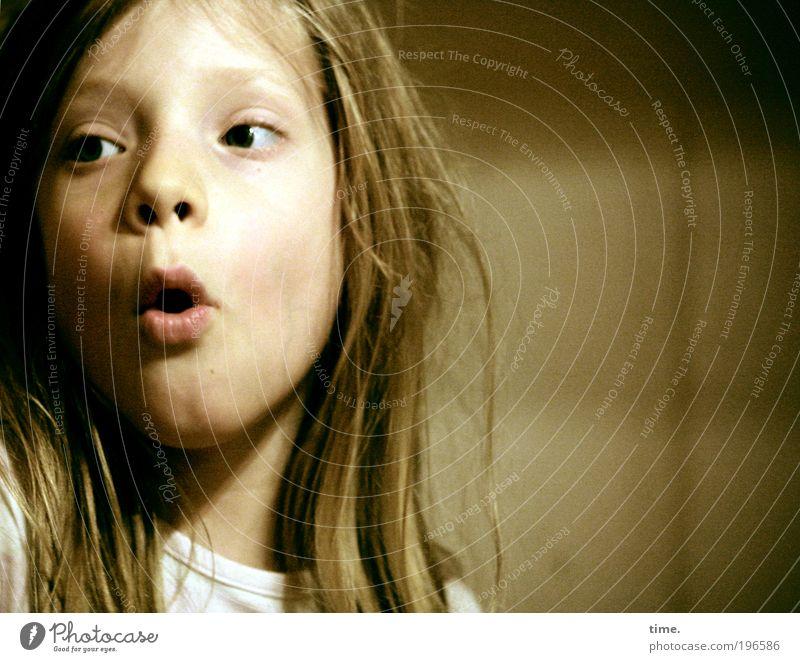 Das Erstaunen Kind Mädchen Auge Leben Haare & Frisuren wild Konzentration Mut Gesichtsausdruck Begeisterung Porträt erstaunt zielstrebig Gesicht energiegeladen