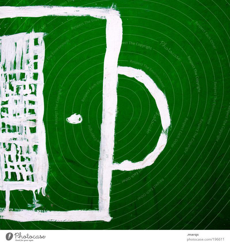 WM Zwanzigvierzehn grün weiß Freude Sport Spielen Graffiti Freizeit & Hobby Schilder & Markierungen Fußball Erfolg außergewöhnlich verrückt einzigartig Zeichen Sportplatz Fußballer