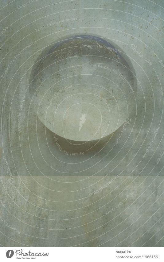 Glaskugel auf Stein Hintergrund Design Dekoration & Verzierung Yoga Kunst Kugel Globus alt glänzend hell historisch retro weiß Farbe Zukunft durchsichtig