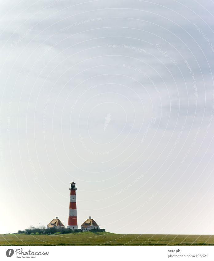 Nordfriesland Freiheit hell Leuchtturm Ostsee Nordsee ländlich Gezeiten fliegend Hochwasser Meer Eiderstedt Schleswig-Holstein Westerhever