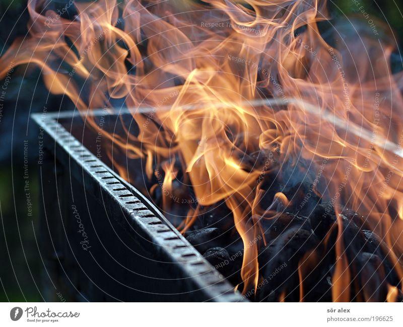 keep the fire under control Grill Grillkohle Metall Stahl Duft heiß schwarz Freizeit & Hobby Feuer Wärme brennen Grillsaison Flamme Grillen Brandgefahr