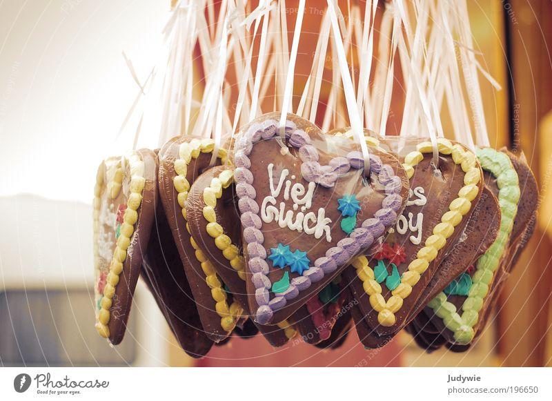 Viel Glück... Stadt Freude Liebe Ernährung Lebensmittel Herz Ausflug süß Lifestyle Hoffnung Romantik Dekoration & Verzierung Kitsch Zeichen lecker