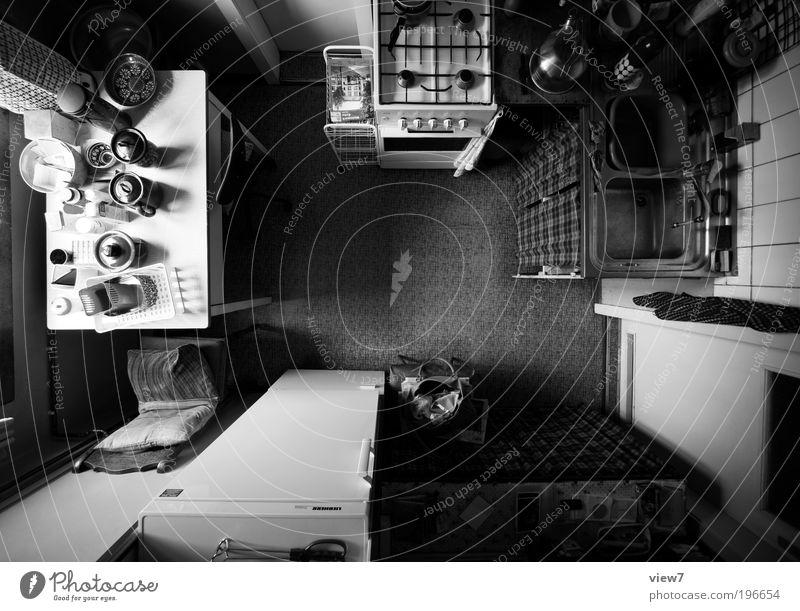Küche+++ Ferne dunkel oben Linie Zufriedenheit Stimmung Raum Wohnung groß verrückt Tisch Perspektive Ordnung trist authentisch