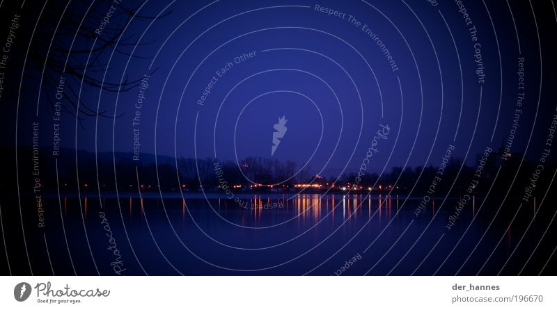 streifensee blau Ferne kalt See Angst Seeufer Terrasse Umwelt