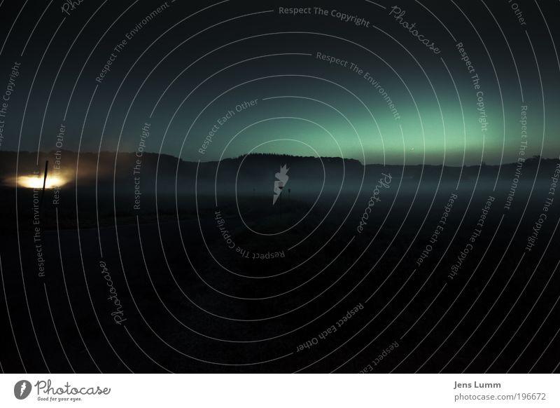 The Fog Himmel blau grün Landschaft dunkel Herbst Tod Horizont Nebel Angst PKW gold ästhetisch gruselig Halloween Volksglaube