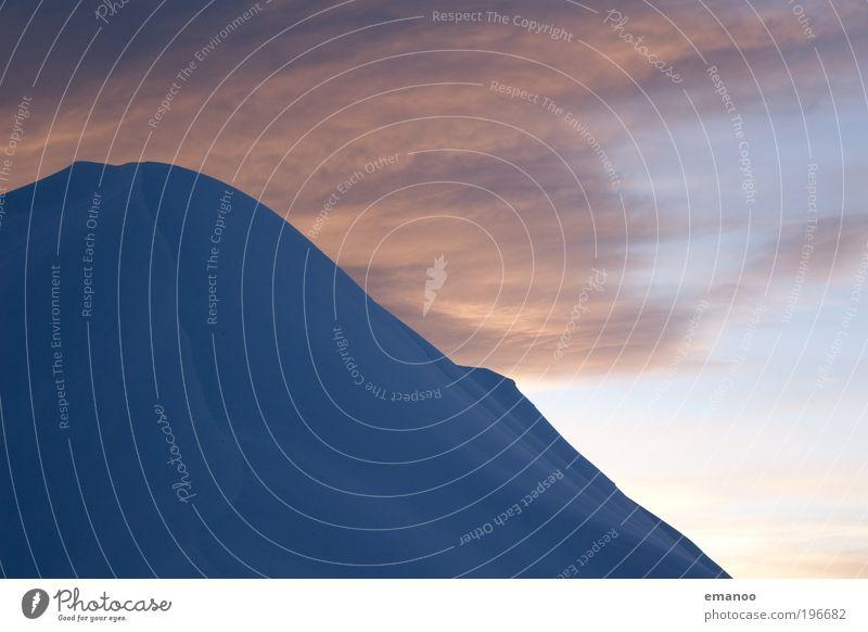 blue mountain Himmel Natur Ferien & Urlaub & Reisen blau Landschaft Winter kalt Berge u. Gebirge Umwelt Schnee Freiheit Eis Freizeit & Hobby Ausflug Klima Gipfel