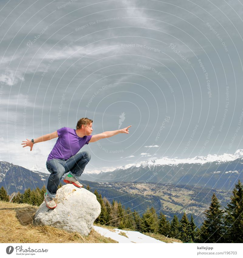 Oh oh ho hohe Berge – La Montanara für das Objektiv Mensch Mann Baum Ferien & Urlaub & Reisen Erwachsene Ferne Leben Freiheit Berge u. Gebirge Freizeit & Hobby