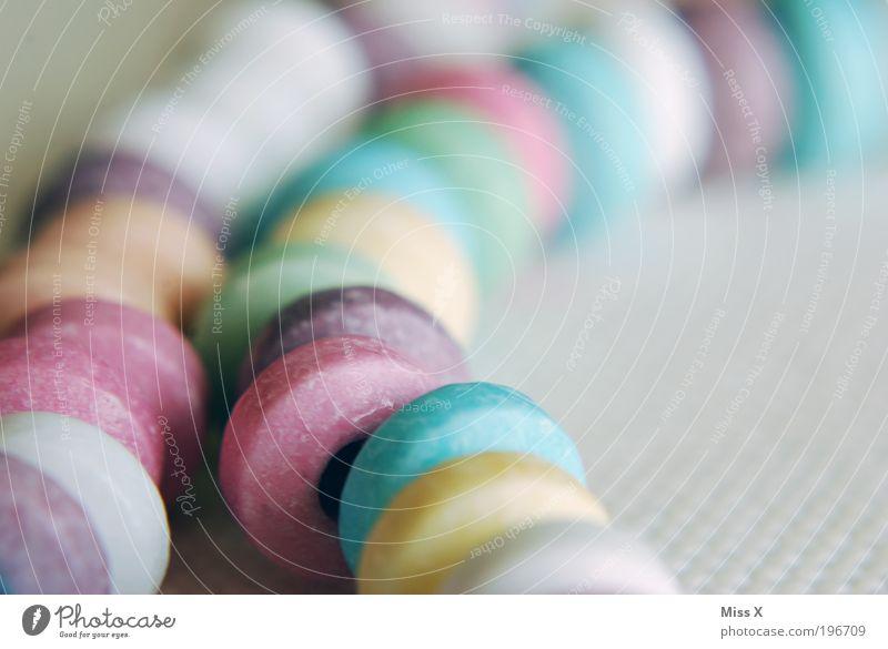 so viel Zuckerzeugs Farbe Kindheit Lebensmittel Ernährung süß retro rund genießen Übergewicht Süßwaren lecker Schmuck Kette Halskette Accessoire