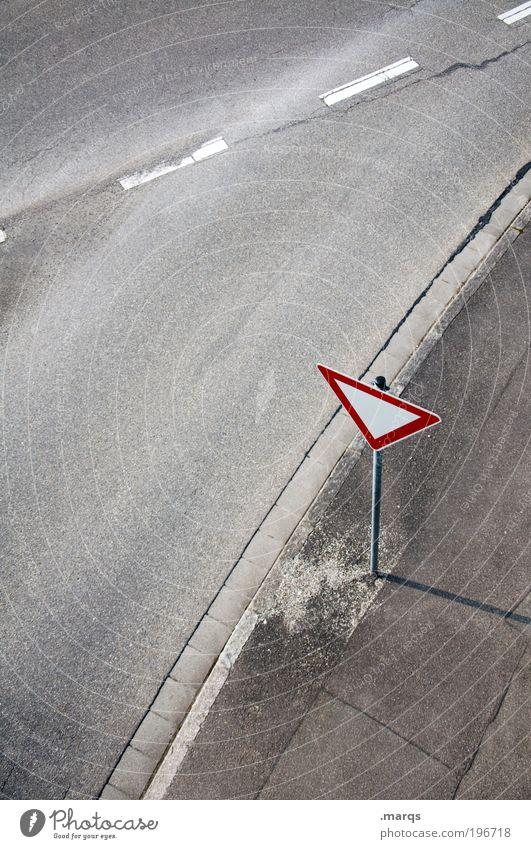 StVO Einsamkeit Straße Wege & Pfade Linie Arbeit & Erwerbstätigkeit Schilder & Markierungen Ausflug Verkehr Sicherheit einfach Sauberkeit