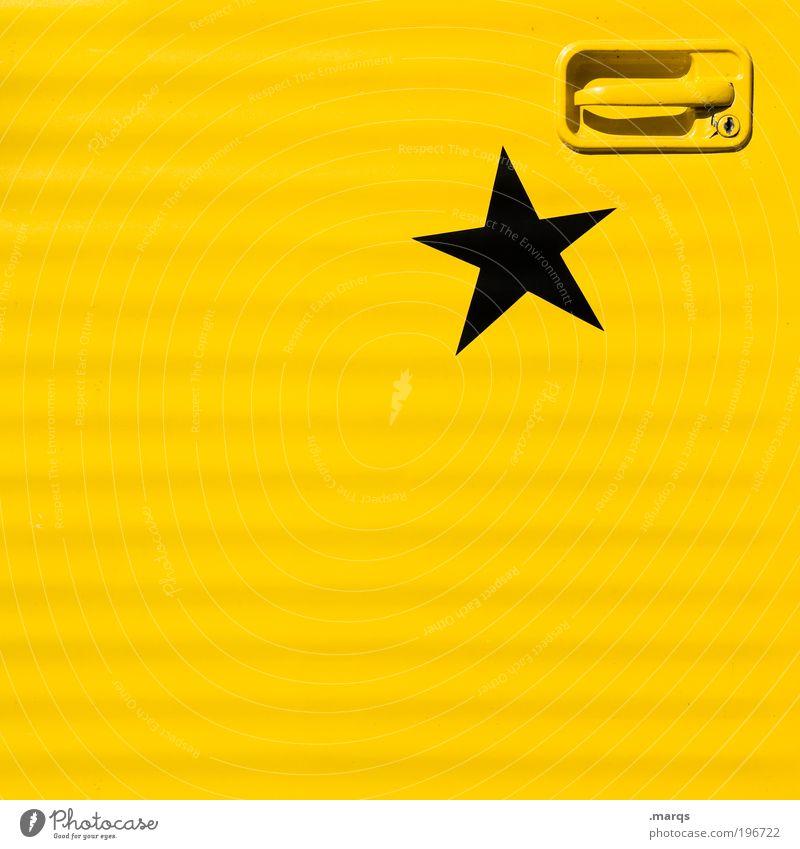 Sternenkreuzer gelb Farbe Stil PKW Metall Design Verkehr verrückt Ausflug Lifestyle Stern (Symbol) Coolness Autotür Schutz rein Zeichen