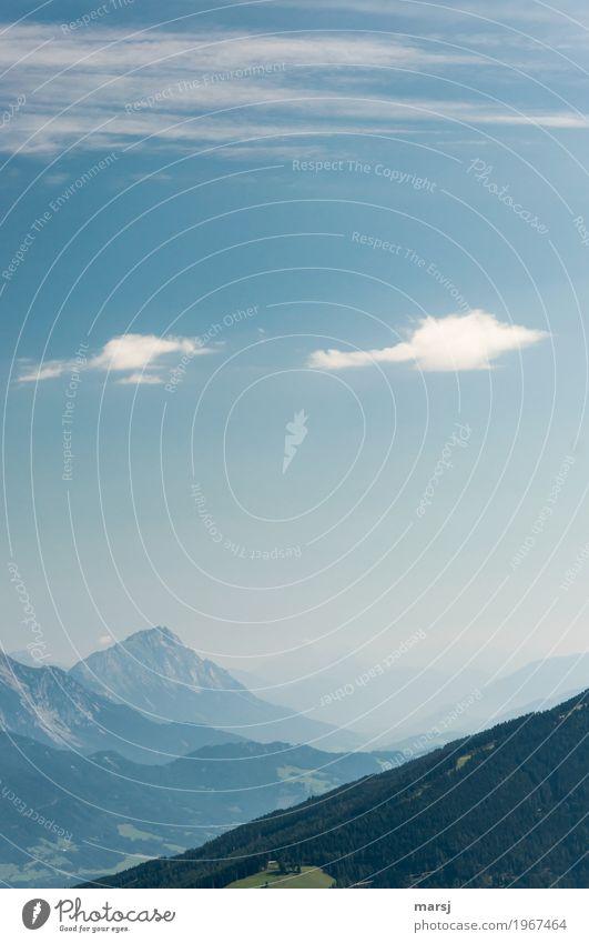 Formationsflug über dem Ennstal harmonisch ruhig Meditation Ferien & Urlaub & Reisen Tourismus Ausflug Freiheit Sommer Berge u. Gebirge wandern Natur Landschaft