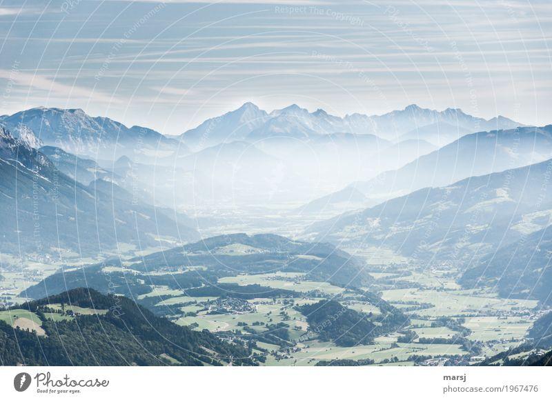 Da lohnt sich doch... harmonisch Erholung ruhig Ferien & Urlaub & Reisen Tourismus Ausflug Ferne Freiheit Sommer Berge u. Gebirge wandern Natur Nebel Hügel