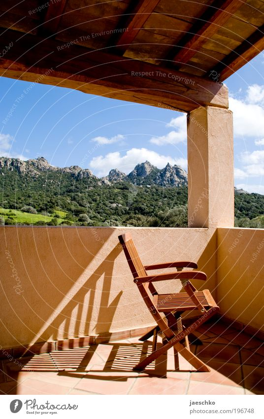 Platz an der Sonne Natur Sonne Sommer Ferien & Urlaub & Reisen ruhig Erholung Berge u. Gebirge träumen Landschaft Zufriedenheit Wellness Tourismus Aussicht Freizeit & Hobby Italien einzigartig