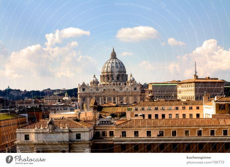 Petersdom Skyline Rom Ferien & Urlaub & Reisen Tourismus Ausflug Sightseeing Städtereise Sommer Sonne Kunst Schönes Wetter Italien Europa Stadt Kirche Dom