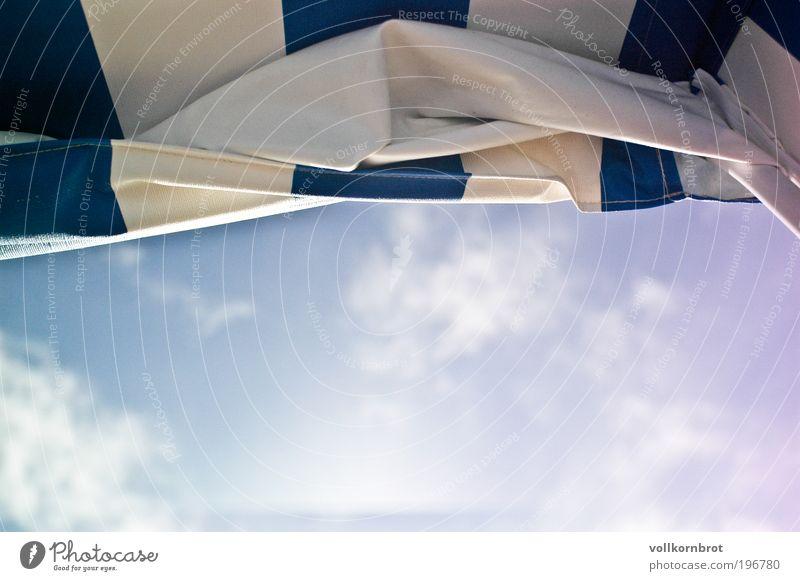 Fernweh Ferien & Urlaub & Reisen Sommer Sommerurlaub Sonne Strand Strandkorb Himmel Wolken Schönes Wetter Nordsee Insel Sylt blau Gelassenheit Farbfoto