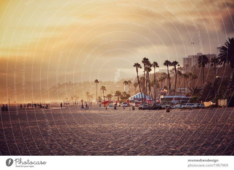Los Angeles Beach am Santa Monica Pier Umwelt Natur Landschaft Pflanze Tier Wolken Sonnenaufgang Sonnenuntergang Schönes Wetter Strand außergewöhnlich