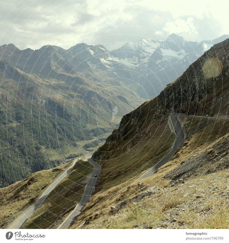 2.474 m ü. A. Himmel Natur Ferien & Urlaub & Reisen Sonne Sommer Winter Wolken ruhig Ferne Umwelt Straße Schnee Berge u. Gebirge Freiheit Frühling Felsen