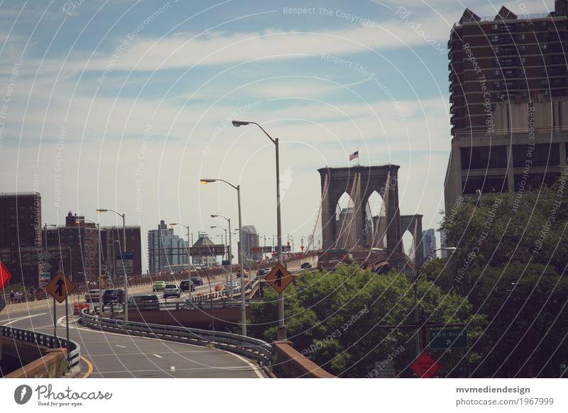 Brooklyn Bridge Straße PKW USA Brücke fahren Fahrzeug New York City