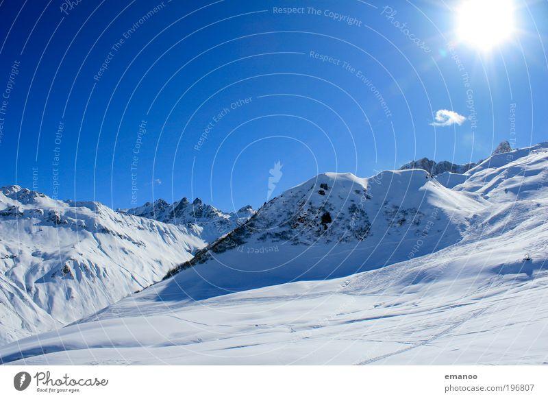 Hasenflüeli Natur Ferien & Urlaub & Reisen blau schön Landschaft Winter kalt Berge u. Gebirge Schnee Felsen Wetter laufen hoch Klima Gipfel Alpen