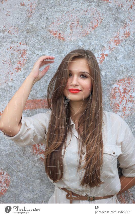 Hübsche Frau Lifestyle elegant Stil Design Freude schön Haare & Frisuren Gesicht Kosmetik Schminke Leben harmonisch Wohlgefühl Zufriedenheit Entertainment Party