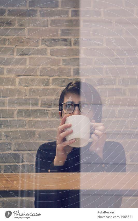 #A# Cafe der Ideen Frau Erholung Kunst Denken träumen nachdenklich sitzen ästhetisch genießen Kaffee trinken Café verträumt Kaffeetrinken Kaffeetasse