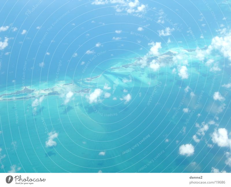 Cuba Flug Bahamas Wolken Flugzeug Kuba