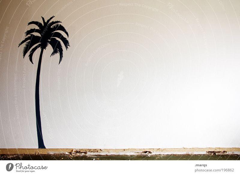 Fernweh Lifestyle Design exotisch harmonisch Zufriedenheit Ferien & Urlaub & Reisen Ferne Freiheit Sommer Sommerurlaub Wohnung Palme Zeichen Graffiti Erholung