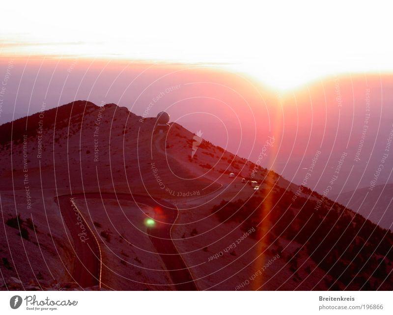 Mont Ventoux - un soir... Ferien & Urlaub & Reisen Ausflug Ferne Berge u. Gebirge Wetterstation Natur Landschaft Erde Horizont Sonne Sonnenaufgang