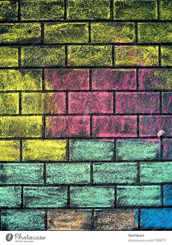 hotzenplotz. Sommer Freude Straße Leben Wand Spielen Wege & Pfade Glück Mauer Stein Linie Kindheit Fassade Freizeit & Hobby Design Häusliches Leben
