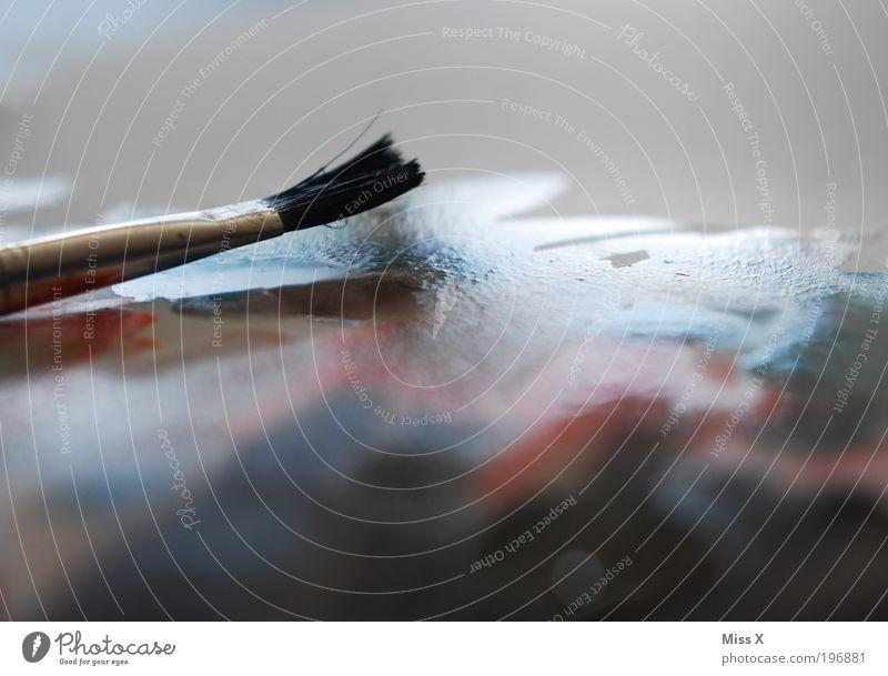 Feucht Freizeit & Hobby Basteln Dekoration & Verzierung Kunst Maler Kunstwerk Gemälde Flüssigkeit nass Farbe Kreativität malen Pinsel Wasserfarbe Farbfoto
