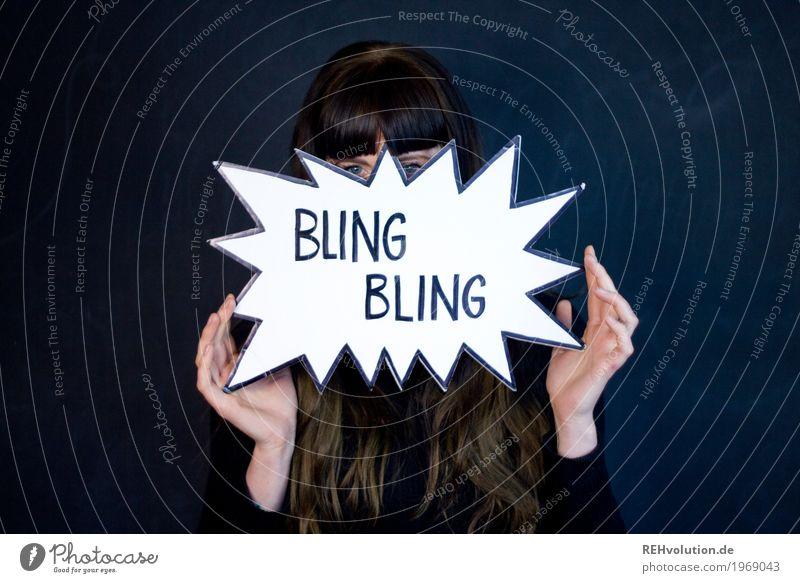 Carina | Bling Bling Mensch Jugendliche Junge Frau schön Hand Freude 18-30 Jahre schwarz Gesicht Erwachsene Stil außergewöhnlich Haare & Frisuren Schriftzeichen