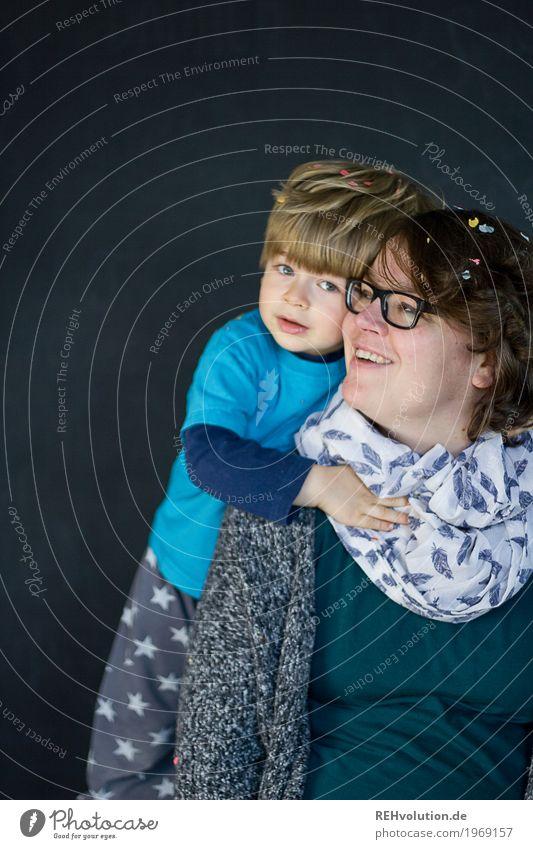 Zeit zu zweit Mensch maskulin feminin Kind Kleinkind Junge Frau Erwachsene Mutter Familie & Verwandtschaft Kindheit Gesicht 2 1-3 Jahre 30-45 Jahre Brille