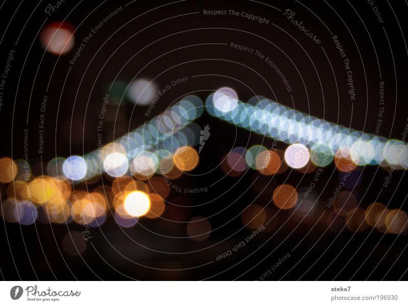 Hangover Bridge Stadt glänzend ästhetisch Brücke weich Skyline Wahrzeichen Sehenswürdigkeit New York City Brooklyn Licht Lichterkette Nachtaufnahme Stadtlicht
