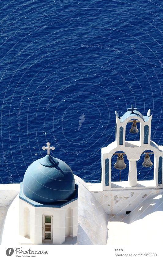bitte klingeln... Ferien & Urlaub & Reisen Himmel Wolken Schönes Wetter Felsen Vulkan Meer Mittelmeer Ägäis Insel Santorin Griechenland Kykladen Dorf Altstadt