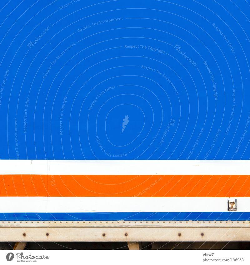 Akzent blau Linie orange Design elegant Verkehr Geschwindigkeit modern Ordnung ästhetisch Güterverkehr & Logistik authentisch einfach rein Streifen Lastwagen