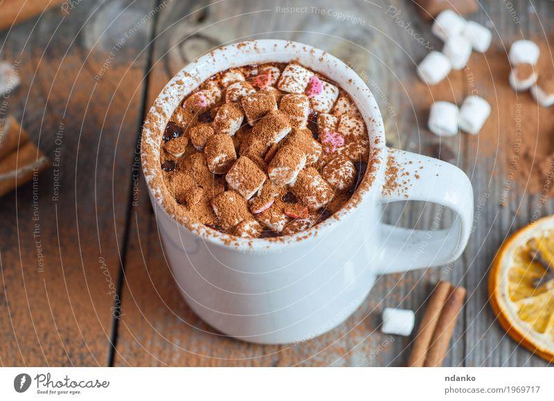 alt weiß Essen natürlich Holz grau braun oben frisch retro Tisch Kräuter & Gewürze Getränk lecker heiß Dessert