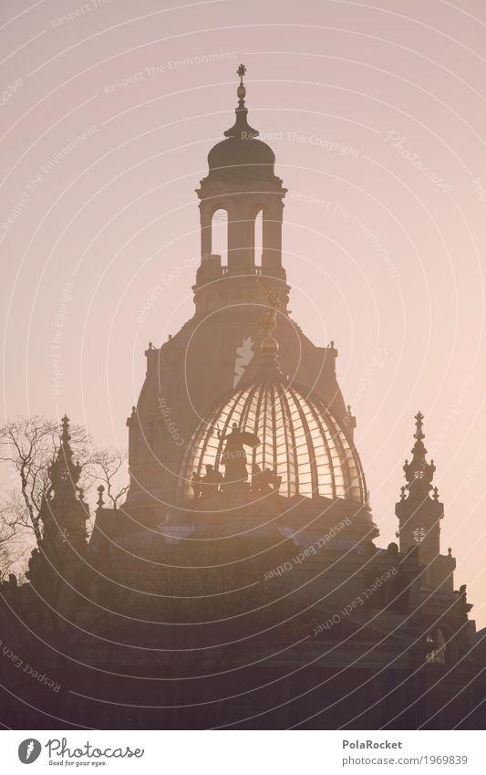 #A# Dresdens Kuppeln Kunstwerk Gemälde ästhetisch Sachsen Deutschland Hauptstadt Frauenkirche Akademie der Bildenden Künste Silhouette Barock Sehenswürdigkeit
