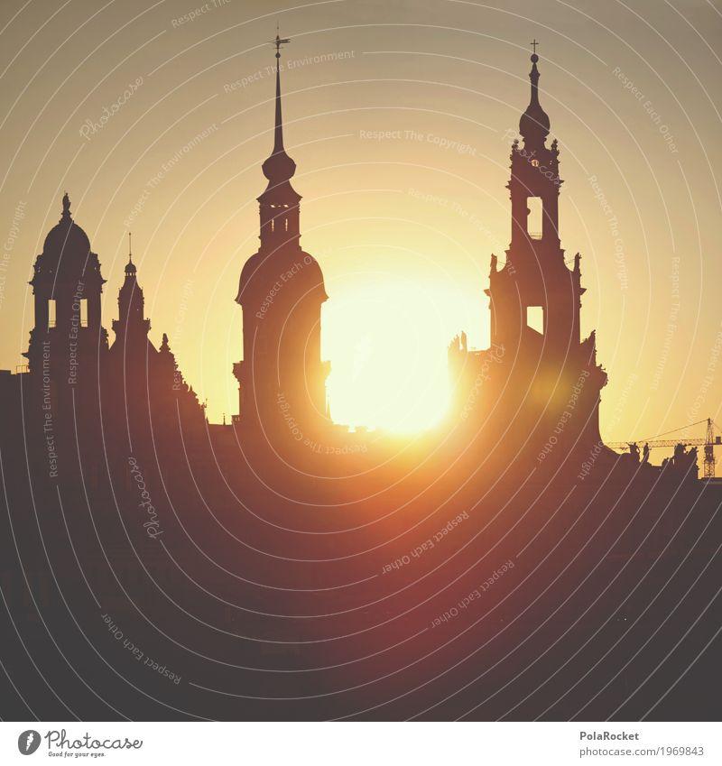 #A# Freitag in Dresden Himmel Sommer Sonne ästhetisch Idylle Romantik Turm Sehenswürdigkeit Altstadt Städtereise Sachsen friedlich Barock Brühlsche Terrasse