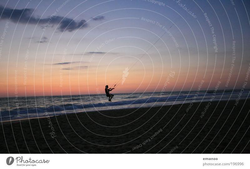 drachenfänger Mensch Natur Jugendliche Wasser Himmel Meer Sommer Freude Strand Ferien & Urlaub & Reisen Sport Freiheit Landschaft Wellen Küste Erwachsene