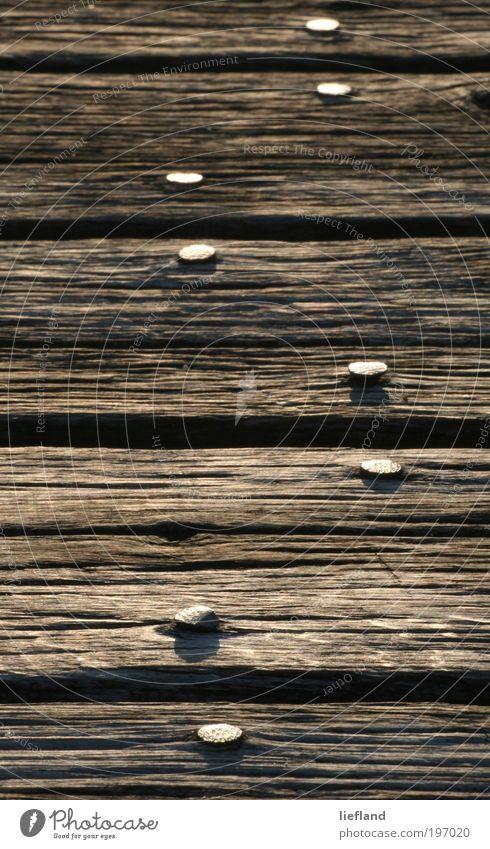 Acht Hafenstadt Wege & Pfade Holz alt gehen dehydrieren authentisch grau grün stagnierend Zeit Gedeckte Farben Außenaufnahme Detailaufnahme Menschenleer Licht