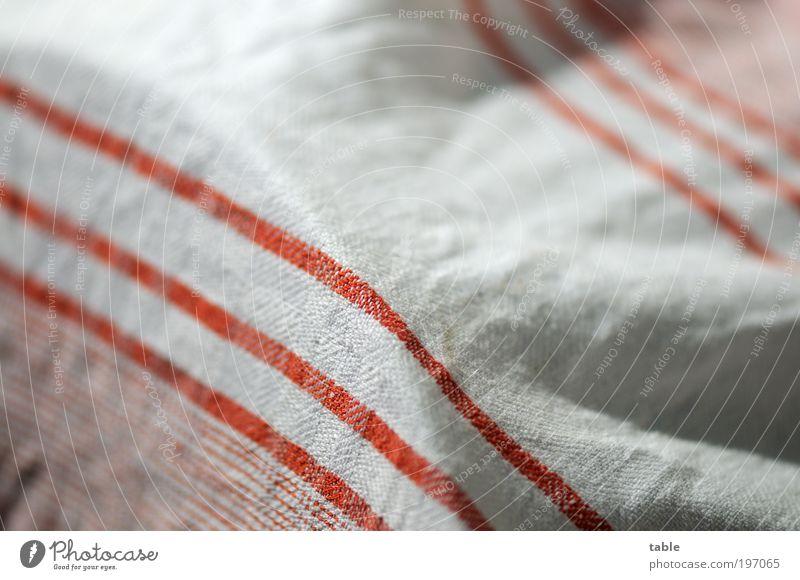 Halbleinen weiß rot Linie Küche Häusliches Leben Streifen Stoff Dienstleistungsgewerbe Handel hängen gestreift Handtuch Geschirrspülen Baumwolle
