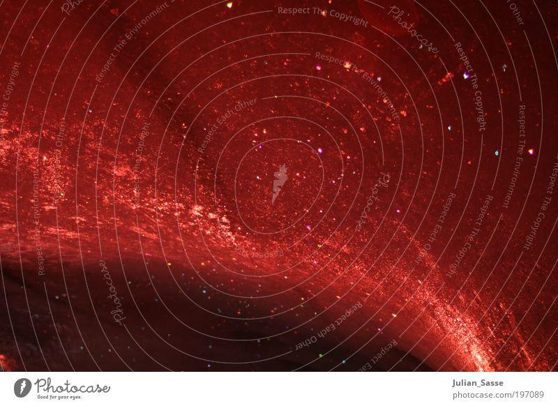 Roter Himmel rot kalt Eis glänzend Frost Licht